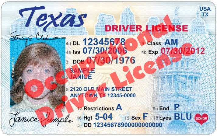 Tarrant County Occupational Driver License (ODL)